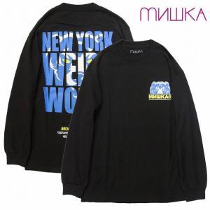 20%OFF MISHKA ミシカ カットソー ロンTEE 長袖Tシャツ D.A NY WEIRD WORLD L/S TEE bless-web