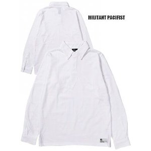 20%OFF MILITANT PACIFIST ミリタントパシフィスト 鹿の子ビジネスポロBIZ POLO LS/WHITE|bless-web