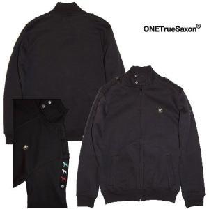 (SOLDOUT)ONETrueSaxon(ワントゥルーサクソン)ジップスウェットTRELISKE 3 DOG Z THRU/BLACK|bless-web