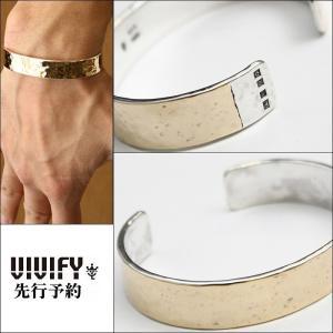 VIVIFY ビビファイ バングル ブレスレット 10KゴールドHammered Hallmarks k10Gold Wide Bangle 受注生産|bless-web