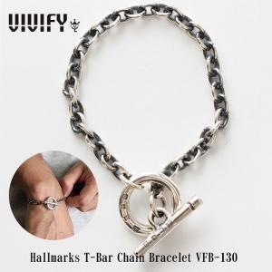 VIVIFY ビビファイ ブレスレット シルバー チェーンブレスレットHallmarks T-Bar Chain Bracelet 受注生産|bless-web