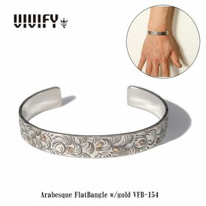 VIVIFY ビビファイ バングル シルバー Arabesque FlatBangle w/gold|bless-web