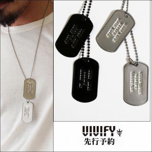 VIVIFY ビビファイ ドッグタグ ネックレス プレート4L Dog Tag 受注生産|bless-web