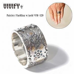 VIVIFY ビビファイ リング シルバー Paisley FlatRing w/gold|bless-web