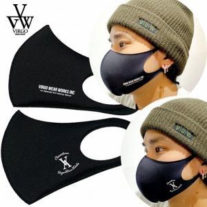 送料無料 VIRGO ヴァルゴ 2枚セット マスク 黒マスク ファッションマスク ポリエステル ポリウレタン 繰り返し 洗える FLOWERS bless-web