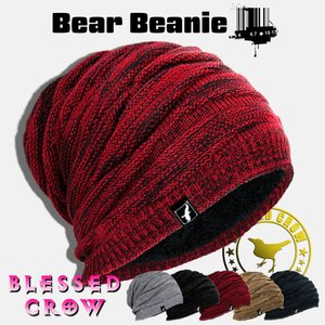 ニットキャップ ニット帽 メンズ レディース BlessedCrow Bear ビーニー ブランド ...