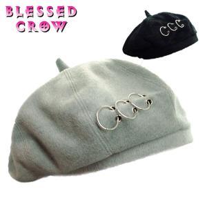 ベレー リング  フープ レディース 帽子 ロック モード blessedcrow