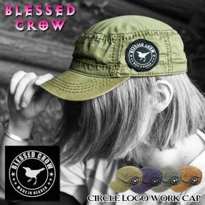 BlessedCrow CircleLogo ワークキャップ 帽子 メンズ 夏 秋 オールシーズン キャップ ブランド|blessedcrow