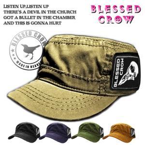 BlessedCrow スカル パッチ ワークキャップ メンズ ワッペン付き キャップ ブランド blessedcrow