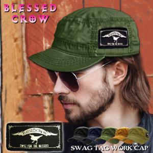 BlessedCrow SwagTag ワークキャップ  帽子 メンズ レディース ファッション|blessedcrow