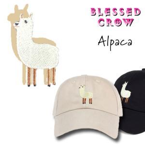 キャップ かわいい アルパカ 黒 帽子 メンズ レディース|blessedcrow