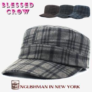 スモーキー艶チェックワークキャップ メンズ レディース 帽子 デザインキャップ|blessedcrow