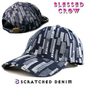 ScratchedDenimキャップ 帽子 キャップ 柄 メンズ レディース デニム blessedcrow