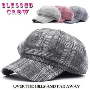 WhiteCheck キャスケット ライトコットン 蒸れにくい メンズ レディース 帽子|blessedcrow