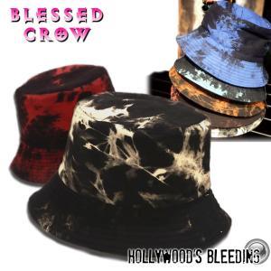インダストリアル バケットハット ブラックタイダイ メンズ 帽子 ハット|blessedcrow