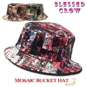 Mosaic バケットハット メンズ レディース 帽子 柄 ハット マルチカラー blessedcrow