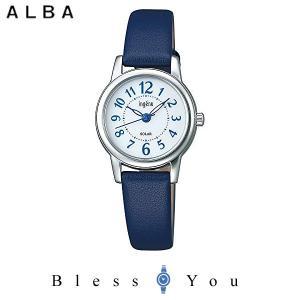 ポイント最大27倍 セイコー アルバ ソーラー 腕時計 レディース アンジェーヌ 2019年5月 レザーバンド AHJD403 13,0|blessyou