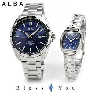 セイコー アルバ ソーラー 腕時計 ペアウォッチ アンジェーヌ AQGD403-AHJD108 24.0 navy [201903new]|blessyou