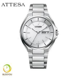 メンズ腕時計 シチズン アテッサ エコドライブ 電波時計 メンズ 腕時計 AT6050-54A 70000|blessyou