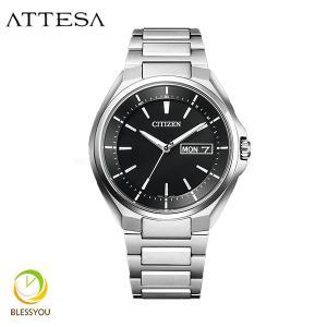 メンズ腕時計 シチズン アテッサ エコドライブ 電波時計 メンズ 腕時計 AT6050-54E 70000|blessyou
