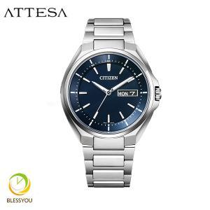 メンズ腕時計 シチズン アテッサ エコドライブ 電波時計 メンズ 腕時計 AT6050-54L 70000|blessyou