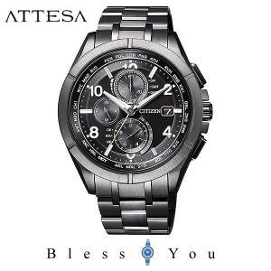 メンズ腕時計 シチズン 電波ソーラー メンズ 腕時計 アテッサ AT8166-59E 130000|blessyou
