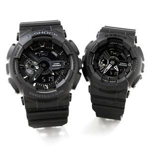 ペアウォッチ g-shock 腕時計 ペア Gショック ブラック GA-110-1BJF BA-110BC-1AJF 30000 ジーショック|blessyou
