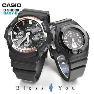 ペアウォッチ カップル 電波ソーラー ペアウォッチ  Gショック ベビーG GAW-100-1AJF-BGA-1050B-1BJF 48000|blessyou