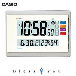 カシオ クロック 電波時計 温度・湿度計付き 置き掛け兼用タイプ CASIO IDL-140J-7JF 新品お取り寄せ blessyou
