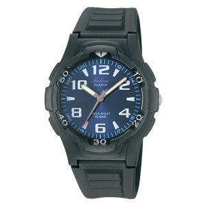 受験用 時計  [シチズン Q&Q] 腕時計 アナログ 防水 ウレタンベルト VP84J850 メンズ ブルー 10気圧防水 ネコポス配送 受験の時計|blessyou