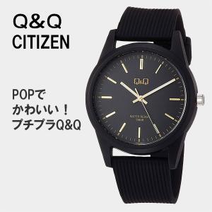 Q&Q シチズン 腕時計 レディース 安い 20代 防水  ネコポス配送 VS40-005 10気圧防水 bk/gd|blessyou