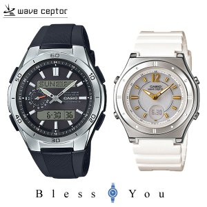 ポイント最大27倍 カシオ カジュアルなペアウォッチ 電波ソーラー腕時計 樹脂バンド WVA-M650-1AJF-LWA-M142-7AJF 35,0|blessyou