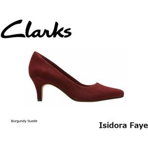 CLARKS クラークス パンプス レディース Isidora Faye 26126721 Burgundy Suede CLA26126721 国内正規品|blissshop