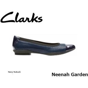 CLARKS クラークス パンプス レディース Neenah Garden 26128861 Navy Nubuck CLA26128861 国内正規品|blissshop