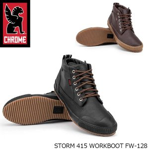 CHROME クローム SHOES ALL CITY STORM 415 WORKBOOT FW-128 BLACK AMBER FW128|blissshop