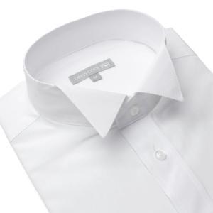 ウィングカラー フォーマルシャツ メンズ ドレスシャツ ワイ...