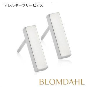 ピアス アレルギー対応 純チタン シルバー プレーンストレート 10mm レディース 15-12110-00|blomdahljapan
