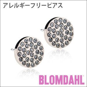 ピアス アレルギー対応 純チタン ブリリアンス プレナリー ブラックダイヤモンド 10mm レディース 15-1266-12|blomdahljapan