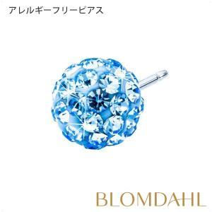 ピアス アレルギー対応 純チタン クリスタルボール 6mm アレキサンドライト レディース 15-1268-06|blomdahljapan