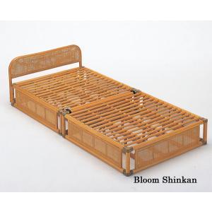籐ベッド 籐ベット 籐すのこベッド すのこベッド すのこベット スノコ  シングルサイズ 2分割 収納 【代引不可】【北海道・沖縄・離島別途送料】|bloom-shinkan