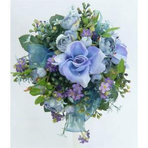アートフラワー〔造花〕ブーケ/ブルーベラドンナ|bloomart