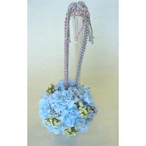 アートフラワー〔造花〕ブーケ/ブルーボールブーケ|bloomart
