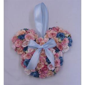 アートフラワー〔造花〕ブーケ/アニマルブーケ【ピンク&水色】バックブーケ|bloomart
