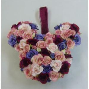 アートフラワー〔造花〕ブーケ/アニマルブーケ【パープル】バックブーケ|bloomart