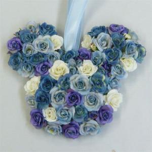 アートフラワー〔造花〕ブーケ/アニマルブーケ【ブルー】バックブーケ|bloomart