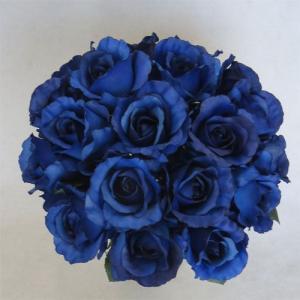 アートフラワー〔造花〕ブーケ/ブルーローズラウンドブーケ|bloomart