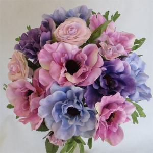 アートフラワー〔造花〕ブーケ/アネモネラウンドブーケ|bloomart