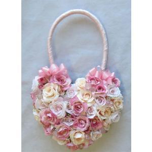 アートフラワー〔造花〕ブーケ/ハートバックW&P|bloomart