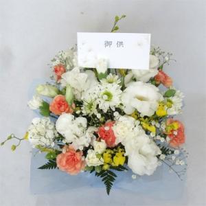 クイックお届け-お供え・お悔やみ 弔事 仏事 命日 弔事花 白&黄色・橙  仏花