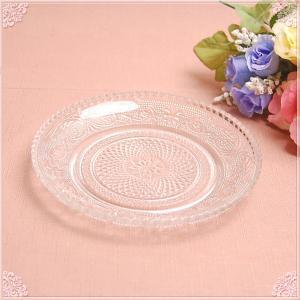 ■クラシカルなカットガラスプレート14.7cm! ■繊細な柄でクラシカルな、ガラス製丸皿です。 ■リ...